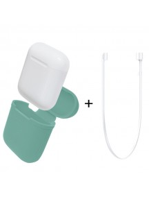 Apple AirPods Silicone Protective Case + Strap - Diamond Blue