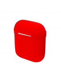 Apple AirPods Silicone Protective Case + Strap - Red