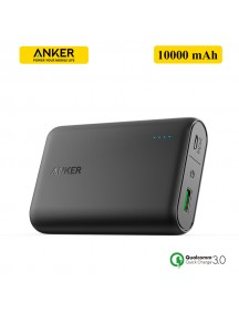 ANKER PowerCore 10000 mAh Power bank with QualComm 3.0 Quick Charge - Black