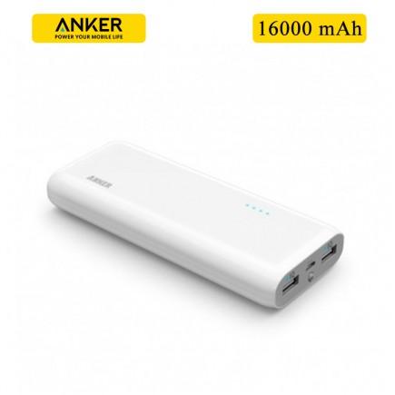 ANKER 16000 mAh 2 USB Power Bank For All Smart Phones & Tablets - White