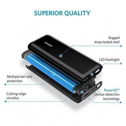 ANKER 16000 mAh 2 USB Power Bank For All Smart Phones & Tablets - Black