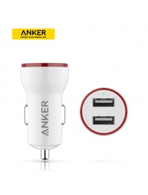 ANKER 2 USB Car Charger - White