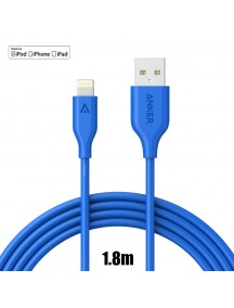 ANKER PowerLine Lightning Cable For IOS Dvices (6ft / 1.8m) - Blue