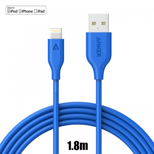 Anker PowerLine Cable For IOS Cable - Blue