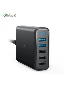 ANKER PowerPort with PowerIQ & Qualcomm 3.0 USB 5 Port  Charger - Black
