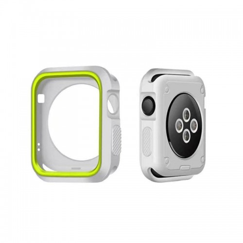 Limited Edition Nike+ Silicon Sports Band + Case For Apple Watch 42MM - Gray/Green