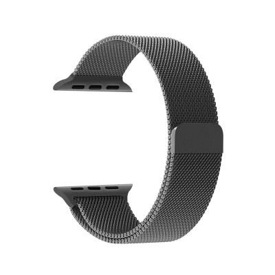 Limited Edition Milisen Magnetic Loop Apple Watch Band For 42 MM Apple Watch - Black