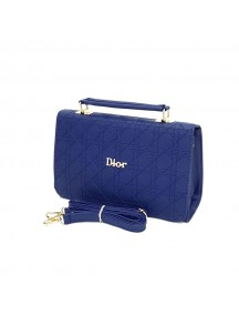 DIOR Ladies Leather Cross Bag - Blue