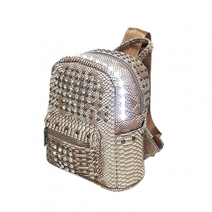 LED Light illuminating Backpack Bag - Brown