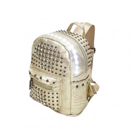 LED Light illuminating Backpack Bag - Gold