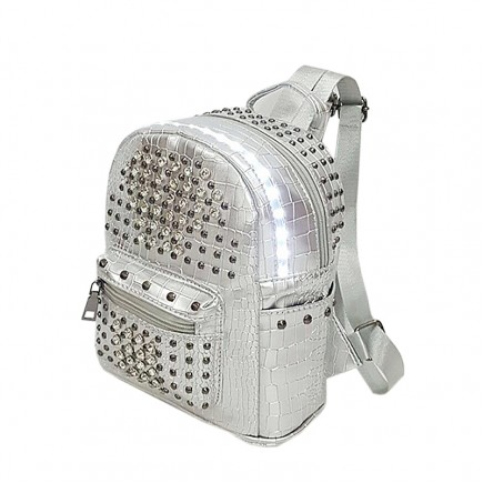 LED Light illuminating Backpack Bag - Silver