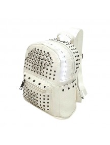 LED Light illuminating Backpack Bag - White