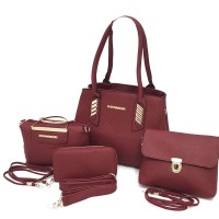 MICHAEL KORS Leather Bag (Set Of 4 ) - Red