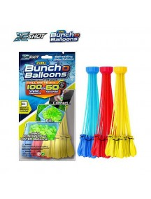 Bunch O Balloons, 3 different colors, Fill in 60 Seconds, 100 Total Water Balloons