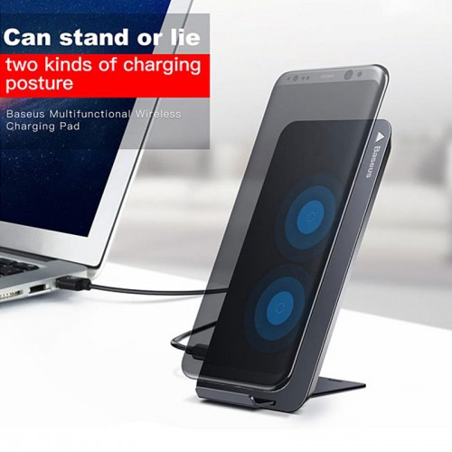 Baseus QI Wireless Charger with Stand - Gold