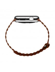 BASEUS Back Series Quilted PU Leather Loop Magnetic Closure Strap for Apple Watch 42mm - Brown