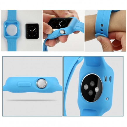 Baseus Soft Silicon Sports Watch Band For Apple Watch 42 MM - Blue