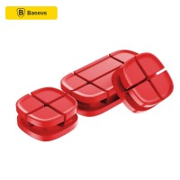 BASEUS Silicone Charging Cable Organizer - Red