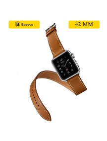 Baseus Double Strap Apple Watch Band for 42MM Watch - Brown