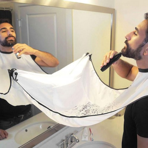 Beard Trimming Apron - White