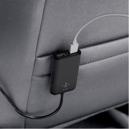 BELKIN Road Rockstar 4 Port USB Hub Car Charger (2 Front & 2 Back)