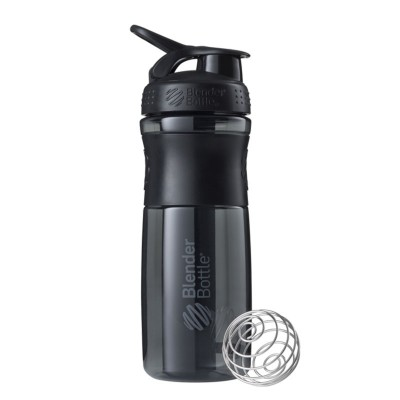 Blender Bottle SportMixer Tritan Grip 28 OZ Shaker - Black/Black
