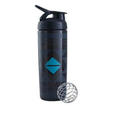 BlenderBottle SportMixer Signature Sleek  Shaker Bottle 28-Ounce - Diamond Native Black