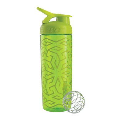 BlenderBottle SportMixer Signature Sleek  Shaker Bottle 28-Ounce - Zen Gala Green