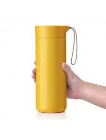 Butterfly Thermal Suction Bottle - Yellow