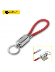 COTEetCI Special Design Leather Keychain Cable For IOS Devices - Red