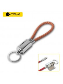 COTEetCI Special Design Leather Keychain Cable For IOS Devices - Brown