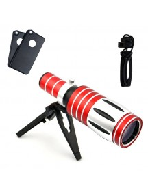 Aluminum 50x Optical Zoom Telephoto/Telescope Lens Kit with Tripod/Back Case with iPhone 6s/6s Plus and 7 & 7 Plus Case