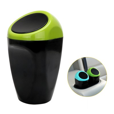 Universal Carbage Dust Auto Trash Mini Dustbin - Green
