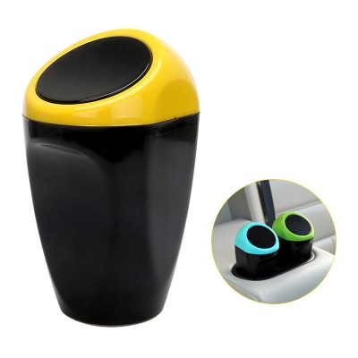 Universal Carbage Dust Auto Trash Mini Dustbin - Yellow