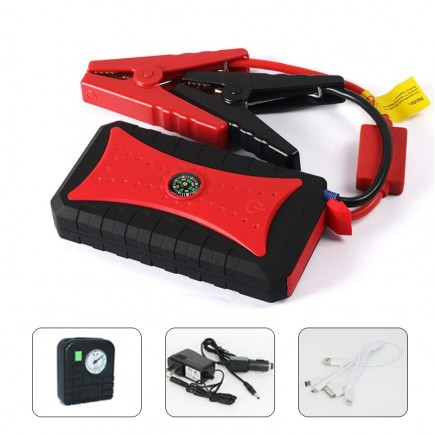 Crony T19 300000mAh WaterProof Mini Car Jump Starter with Air Inflator, LED & 4 USB
