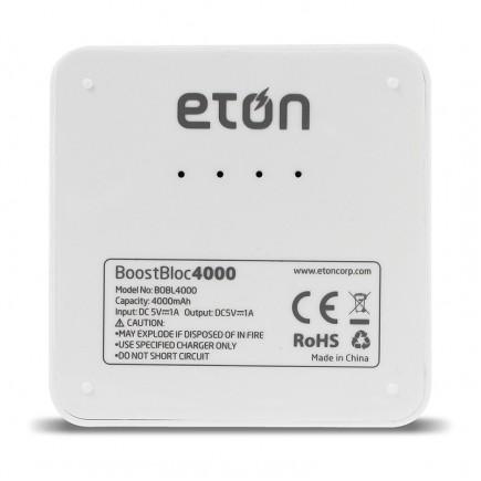 ETON BoostBloc 4000mAh Portable Power Bank - White