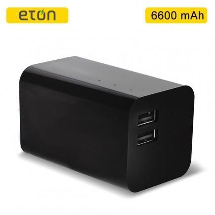 ETON BoostBloc 6600mAh  2 USB Portable Power Bank - Black