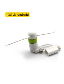 Flexible Mini USB Portable Fan For Smartphones & Tablets (Andriod & Apple) - White