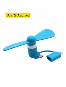 Flexible Mini USB Portable Fan For Smartphones & Tablets (Andriod & Apple) - Blue