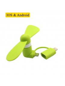 Flexible Mini USB Portable Fan For Smartphones & Tablets (Andriod & Apple) - Green