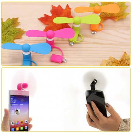 Flexible Mini USB Portable Fan For Smartphones & Tablets (Andriod & Apple) - Black
