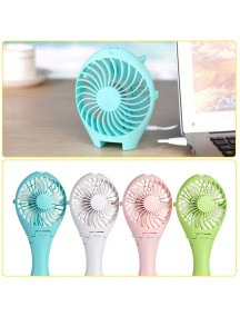 Rechargable Fish Designed Portable USB Fan - White