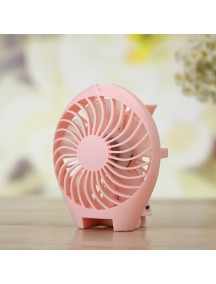 Rechargable Fish Designed Portable USB Fan - Pink