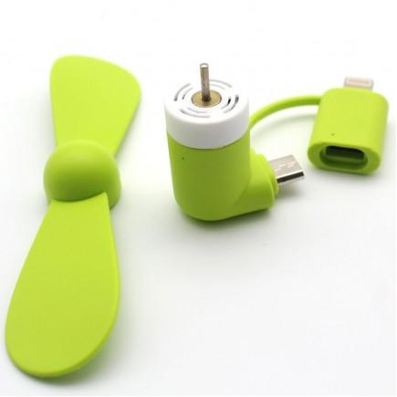 Flexible Mini USB Portable Fan For Smartphones & Tablets (Andriod & Apple) - Green