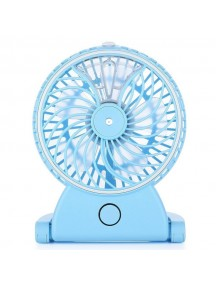 Rechargeable Water Mist Handheld Humidifier Portable Mini USB Fan - Blue