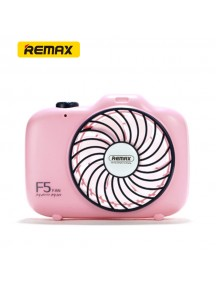 REMAX Camera Shape Rechargeable Mini USB Fan - Pink