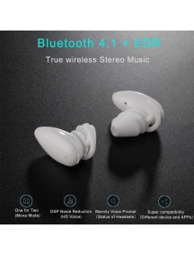 Fantime Stereo Sweatproof Mini Wireless Bluetooth Earbuds - White