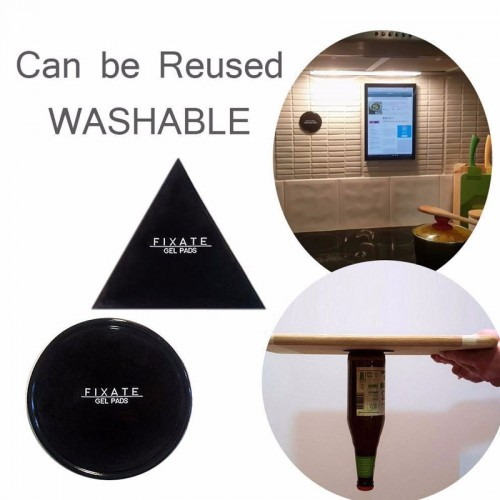 FIXATE Gel Pads Reusable Washable Powerful Gel Stickers For Mobile Tablets Keys