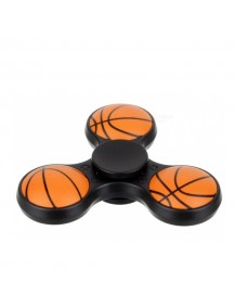 E-SMARTER Basketball Pattern Fidget Spinner -Black/Orange