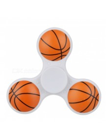 E-SMARTER Basketball Pattern Fidget Spinner -White/Orange